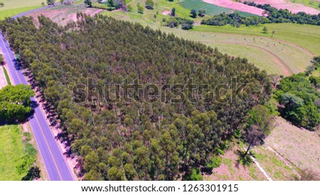 Beautiful countryside aerial view. Agribusiness, livestock, pasture, cattle. Great landscape. Rural scene. Agriculcure scene. Farm scene. Field scene. Countyside view. Wallpaper.