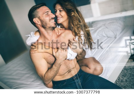 Beautiful couple being passionate #1007377798