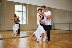 beautiful couple dancing tango