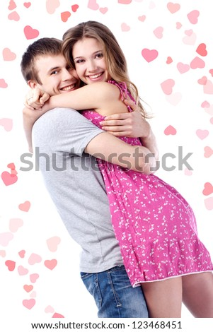 Beautiful couple.Valentine's day