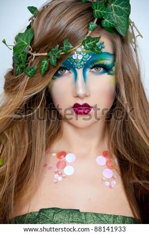 beautiful creative fashion makeupdryadrmaid stock
