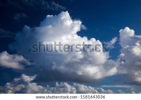 beautiful cumulus clouds natural sky background  #1581643036