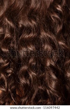 beautiful curled hair