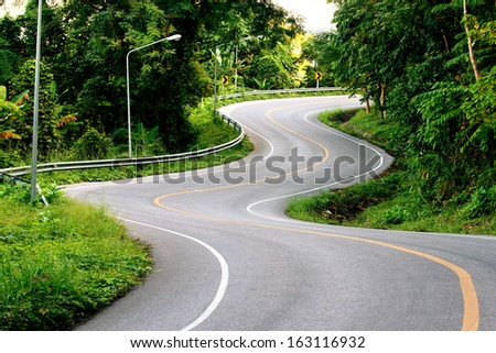 Beautiful curved road.