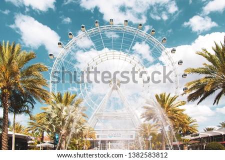 Beautiful Cyan Sky Orlando Eye