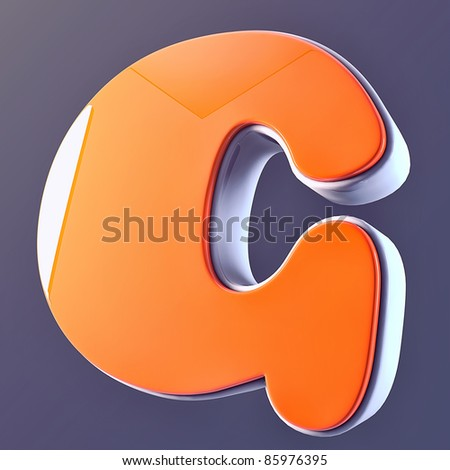 beautiful 3D Letter of  puffy font - stock photo