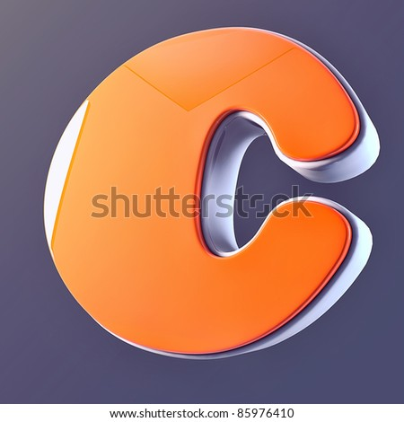 beautiful 3D Letter of  puffy font