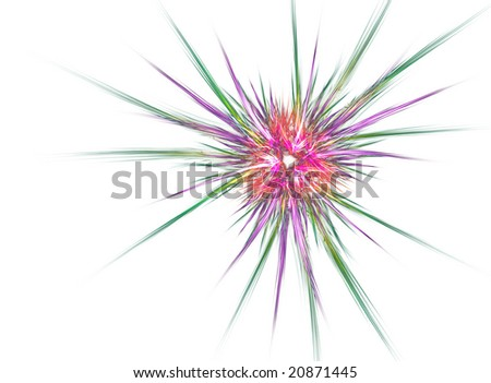 Beautiful 3D rendered flower fractal isolated on white background.