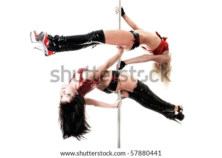 beautiful dancer on the pole