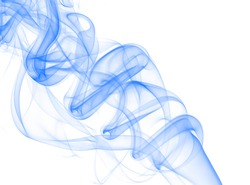 Beautiful dark blue wave of a smoke and hum