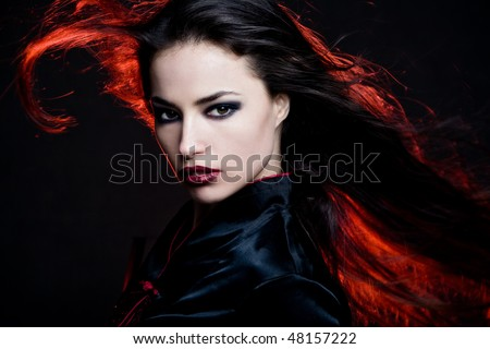 Dark Red Hair Images. beautiful dark hair woman