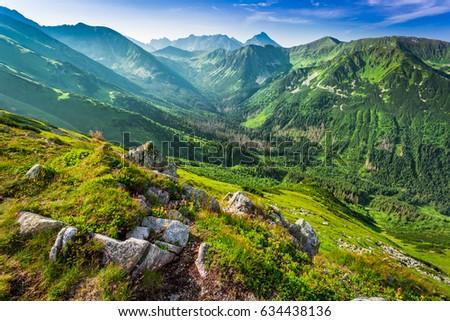 Beautiful dawn in the Tatras mountains, Poland, Europe #634438136