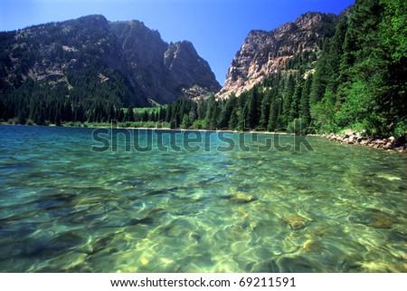 Beautiful day at Phelps Lake in Grand Teton National Park - Wyoming