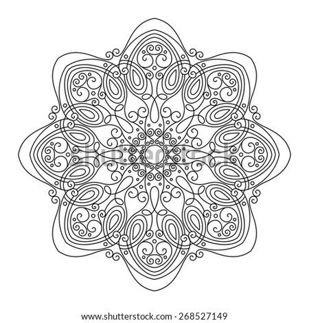 Beautiful Deco Mandala, Patterned Design, Amulet