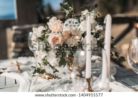 Beautiful Decorated Romantic Table for romantic date