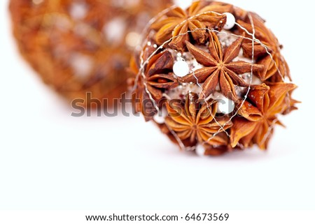 For the christmas tree it is self made of chinese anise stock photo