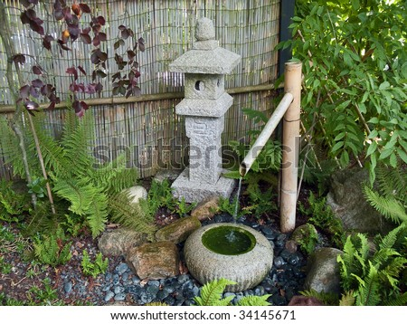 Beautiful Decorative Japanese Home Garden Bamboo Waterfall Pond ...