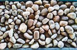 Beautiful Decorative Pebble Stones Pile Texture.