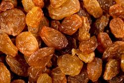 Beautiful delicious raisins in large quantities. Close-up