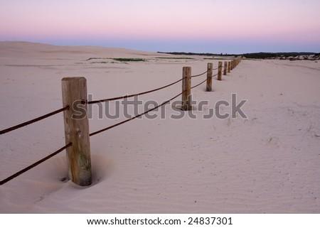 Beautiful desert taken in twilight conditions. Stockton dunes in Anna Bay, NSW, Australia.