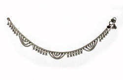 Beautiful Design Silver Plated Anklet (Payal) on white background
