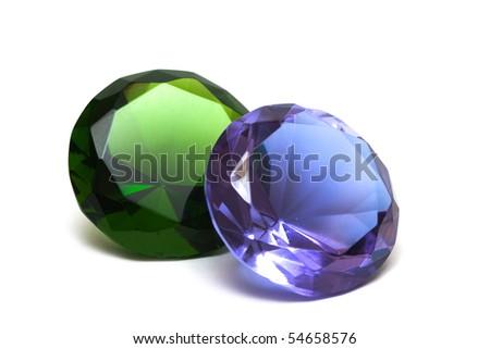 Beautiful diamond crystal isolated on white background