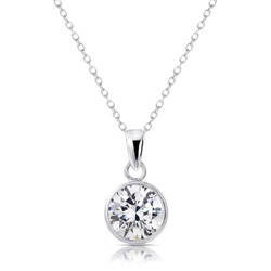 Beautiful Diamond pendant isolated on white