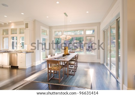 Beautiful Dining Room in New Luxury Home