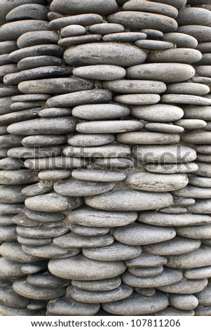 Beautiful Display Of Rocks In A Spa - stock photo