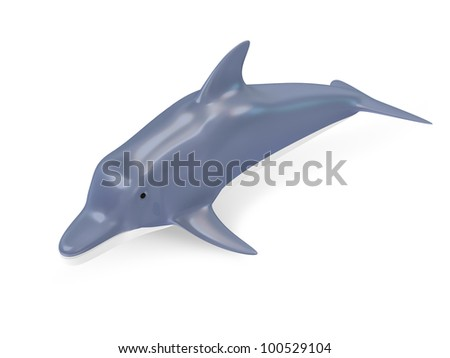 Beautiful Dolphin isolated on white background