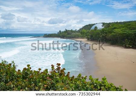 Shutterstock Beautiful dome at a beach at Playa Domes at Playa RIncon in Puerto Rico