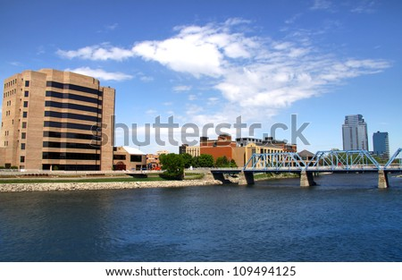 Beautiful Downtown Grand Rapids in Michigan
