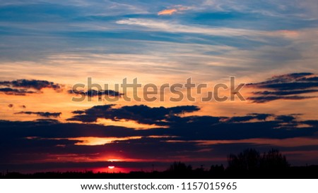 beautiful dramatic sunset #1157015965