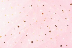 Beautiful dreamy, childhood, princess or fairy tale background. Birthday, baby shower, or party concept.