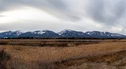 Beautiful, dreary landscape at Lee Metcalf National Wildlife Refuge, Montana, USA