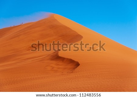 Beautiful dunes and african nature, landscapes of Namib desert, Sossusvlei, Namibia, South Africa