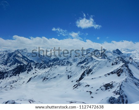 beautiful early spring skitouring in otztal alps in austria #1127472638