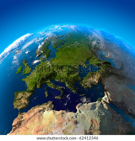 Beautiful Earth - Europe from space