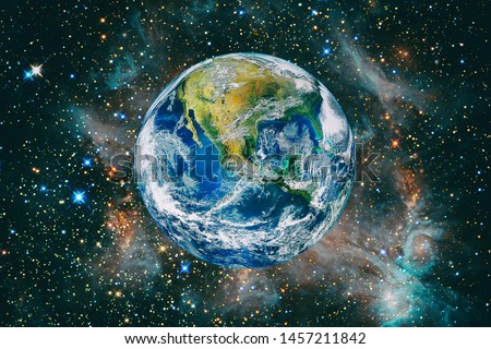 Beautiful earth from space. The elements of this image furnished by NASA.
