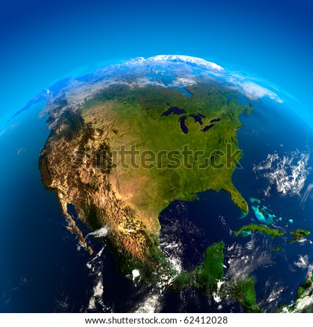 Beautiful Earth - North America from space