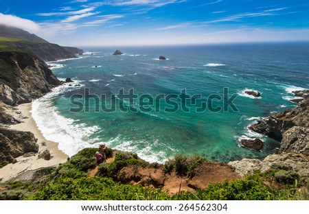 Beautiful East coast from Big Sur, California. #264562304