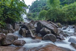 Beautiful Elappally Waterfalls, Moolamattom-Vagamon road, Idukki District, Kerala