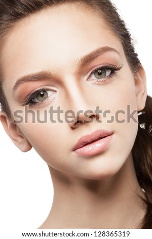 Beautiful elegance girl with beauty shiny makeup