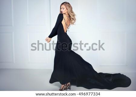 beautiful elegant blonde woman...