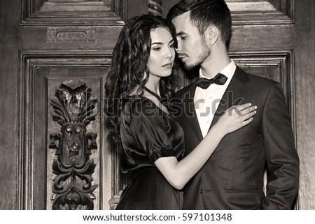 beautiful elegant couple near...