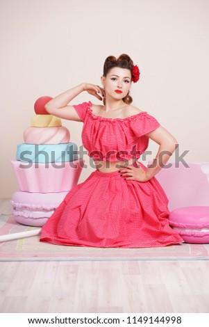 free photos pin up girl with cake avopix com