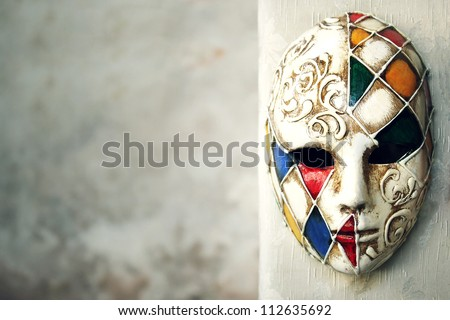 Beautiful elegant venetian mask