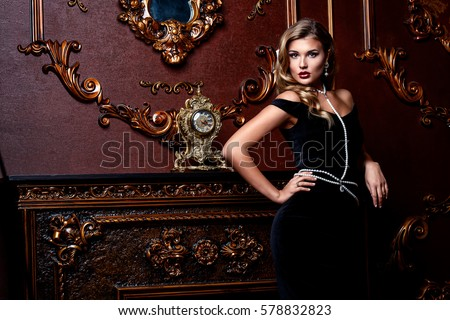 beautiful elegant woman in...