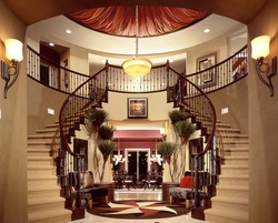 Beautiful Entry Staircase This Luxury Stairway Entry Architecture Stock Images, Photos of Staircase, Living room, Dining Room, Bathroom, Kitchen, Bed room, Office, Interior photography.