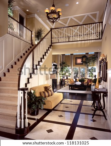Luxury staircases and railings picture